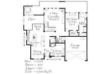 Prairie Floor Plan - Main Floor Plan Plan #509-63