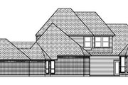 European Style House Plan - 5 Beds 3.5 Baths 3355 Sq/Ft Plan #84-287 Exterior - Rear Elevation