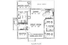 Cabin Floor Plan - Main Floor Plan Plan #117-513
