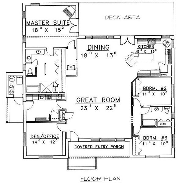 Cabin Floor Plan - Main Floor Plan Plan #117-513