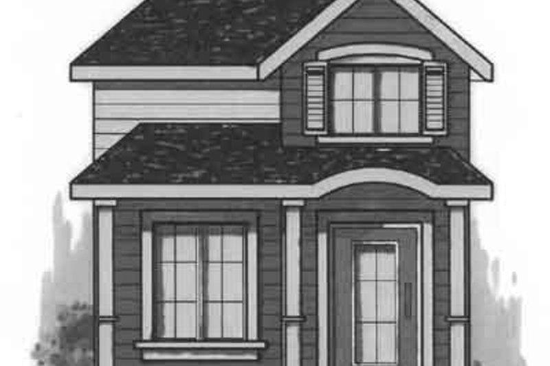 Cottage Exterior - Front Elevation Plan #23-472
