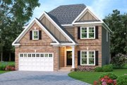 Traditional Style House Plan - 4 Beds 2.5 Baths 2228 Sq/Ft Plan #419-184 Exterior - Front Elevation