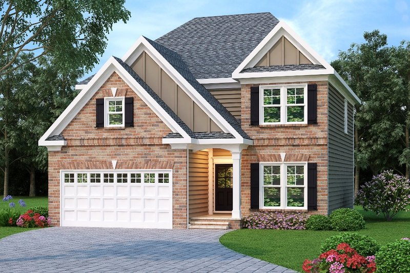 Home Plan - Traditional Exterior - Front Elevation Plan #419-184