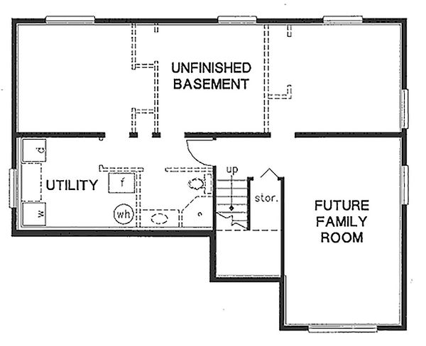 Home Plan Design - Traditional Floor Plan - Lower Floor Plan #18-304