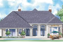 Home Plan - European Exterior - Rear Elevation Plan #930-296