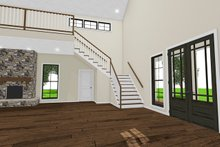 Country Interior - Entry Plan #923-97