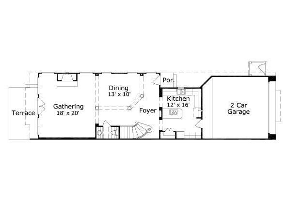 European Floor Plan - Main Floor Plan Plan #411-692