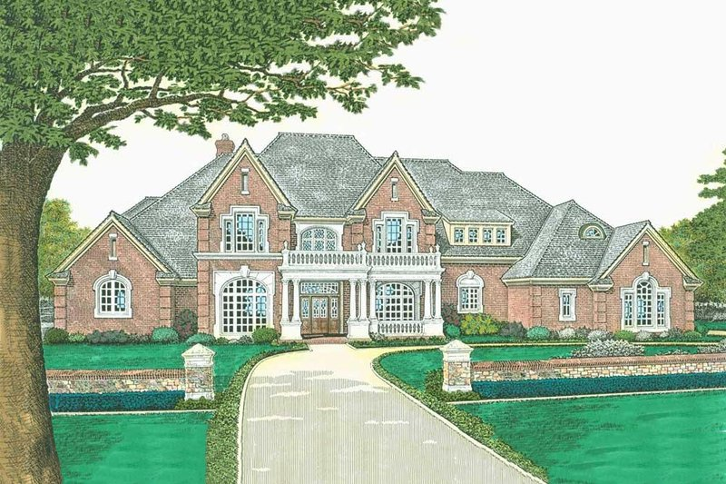Dream House Plan - European Exterior - Front Elevation Plan #310-523