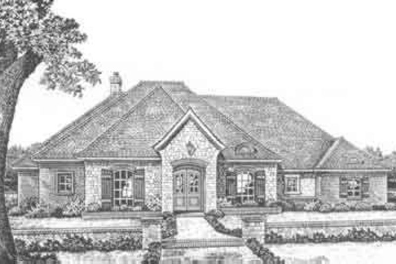 European Style House Plan - 3 Beds 2.5 Baths 2409 Sq/Ft Plan #310-369 Exterior - Front Elevation