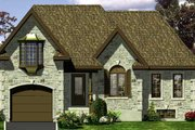European Style House Plan - 3 Beds 2 Baths 976 Sq/Ft Plan #138-304 Exterior - Front Elevation