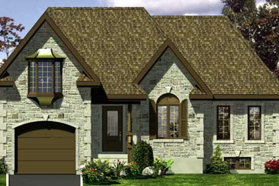 European Exterior - Front Elevation Plan #138-304