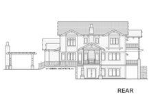 House Design - Craftsman Exterior - Rear Elevation Plan #928-317