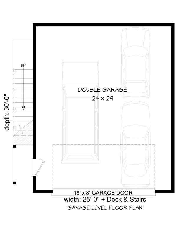 House Plan Design - Contemporary Floor Plan - Lower Floor Plan #932-53