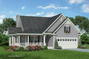 Country Exterior - Front Elevation Plan #929-43