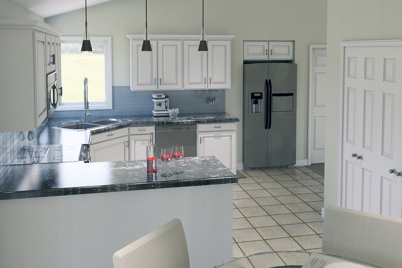 Ranch Interior - Kitchen Plan #57-114 - Houseplans.com