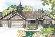 Ranch Style House Plan - 4 Beds 2.5 Baths 2396 Sq/Ft Plan #124-585 Exterior - Front Elevation