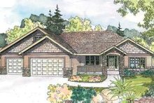 Ranch Exterior - Front Elevation Plan #124-585