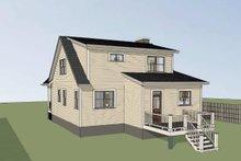 House Plan Design - Bungalow Exterior - Rear Elevation Plan #79-314