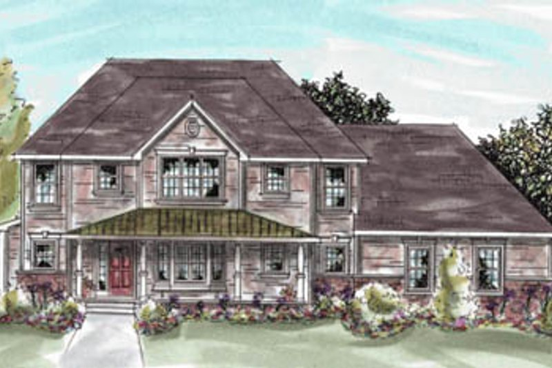 Home Plan Design - Traditional Exterior - Front Elevation Plan #20-1290