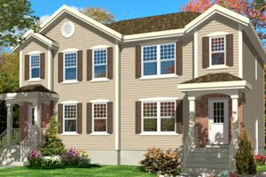 Architectural House Design - Traditional Exterior - Front Elevation Plan #138-237