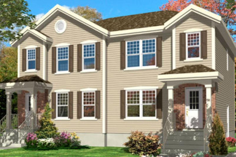 Traditional Style House Plan - 2 Beds 1.5 Baths 2428 Sq/Ft Plan #138-237 Exterior - Front Elevation