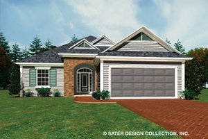 Ranch Exterior - Front Elevation Plan #930-485
