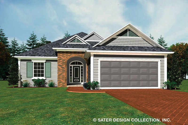 Home Plan - Ranch Exterior - Front Elevation Plan #930-485