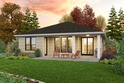 Contemporary Style House Plan - 3 Beds 2 Baths 1922 Sq/Ft Plan #48-1030 Exterior - Rear Elevation