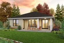 Dream House Plan - Contemporary Exterior - Rear Elevation Plan #48-1030