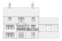 Colonial Exterior - Rear Elevation Plan #901-86