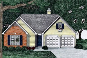 Architectural House Design - Traditional Exterior - Front Elevation Plan #129-151
