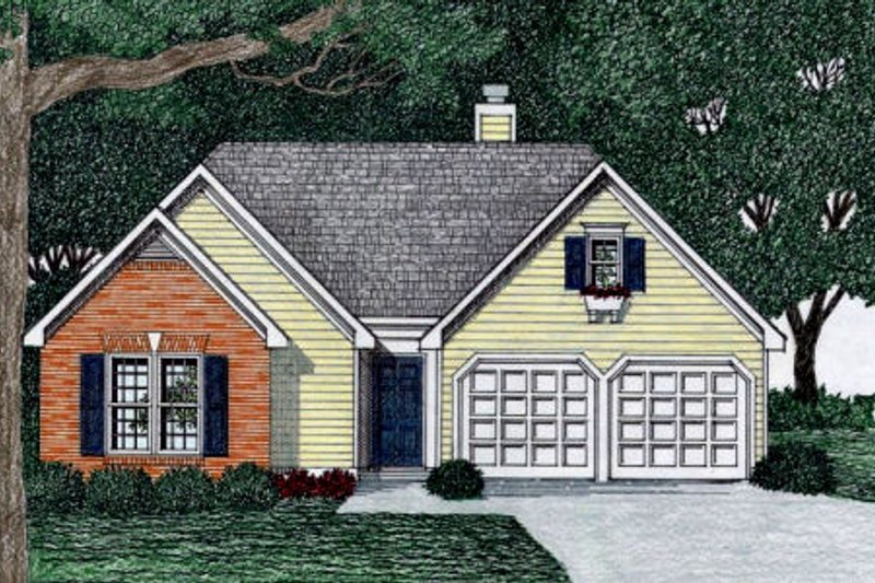 Home Plan - Traditional Exterior - Front Elevation Plan #129-151