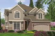 Craftsman Style House Plan - 4 Beds 3.5 Baths 2820 Sq/Ft Plan #48-173 Exterior - Front Elevation