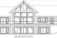 Dream House Plan - Modern Exterior - Rear Elevation Plan #117-385