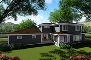 Modern Style House Plan - 4 Beds 3 Baths 3187 Sq/Ft Plan #70-1431 Exterior - Rear Elevation