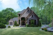 Contemporary Style House Plan - 3 Beds 3.5 Baths 3020 Sq/Ft Plan #17-3422 Exterior - Front Elevation