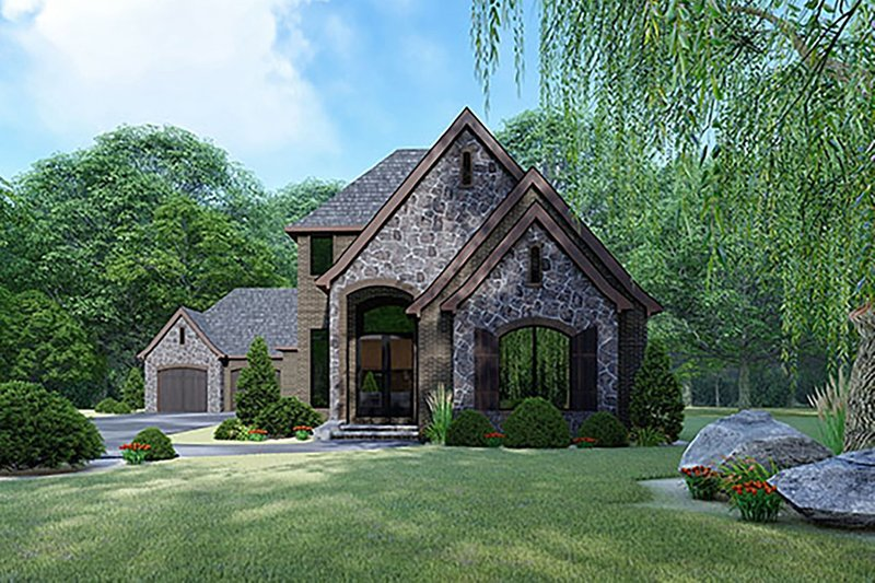 Home Plan - Contemporary Exterior - Front Elevation Plan #17-3422