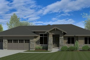 Dream House Plan - Craftsman Exterior - Front Elevation Plan #920-110