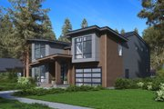 Modern Style House Plan - 3 Beds 4 Baths 3542 Sq/Ft Plan #1066-64 Exterior - Other Elevation