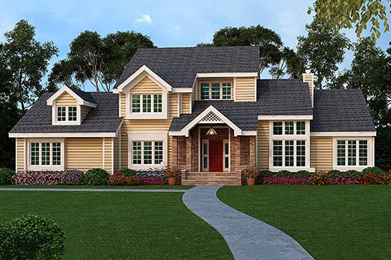 Country Style House Plan - 4 Beds 3.5 Baths 3150 Sq/Ft Plan #456-35