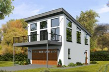 House Plan Design - Contemporary Exterior - Front Elevation Plan #932-95