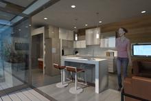 Modern Interior - Kitchen Plan #484-4