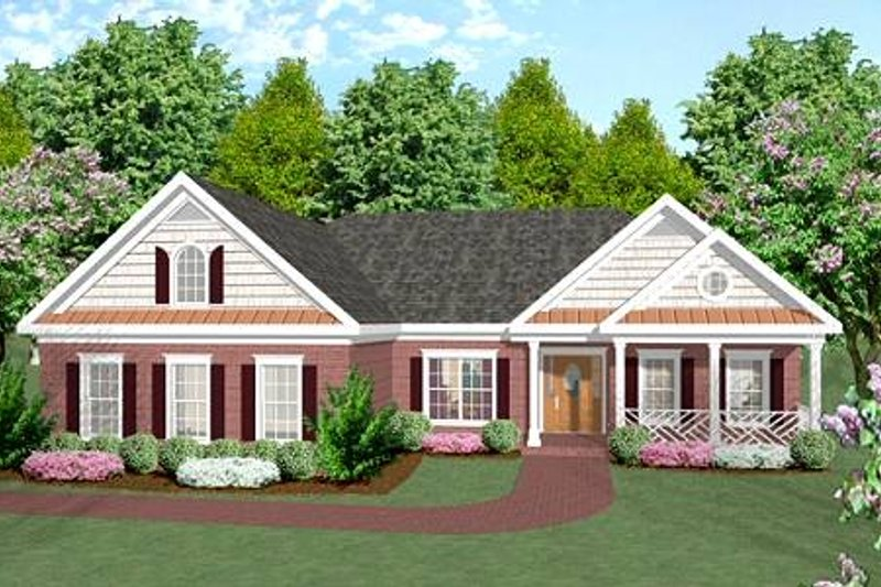 Home Plan Design - Ranch Exterior - Front Elevation Plan #56-141