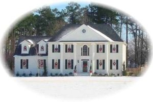 Colonial Exterior - Front Elevation Plan #81-1487