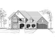 European Style House Plan - 4 Beds 4.5 Baths 4345 Sq/Ft Plan #411-103 Exterior - Front Elevation