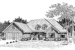 Traditional Exterior - Front Elevation Plan #70-325