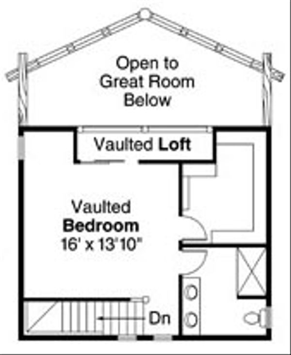 Log Floor Plan - Upper Floor Plan Plan #124-766