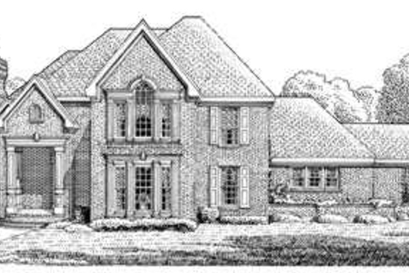 European Exterior - Front Elevation Plan #410-402