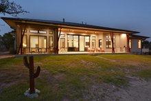 House Design - Contemporary Exterior - Rear Elevation Plan #935-18