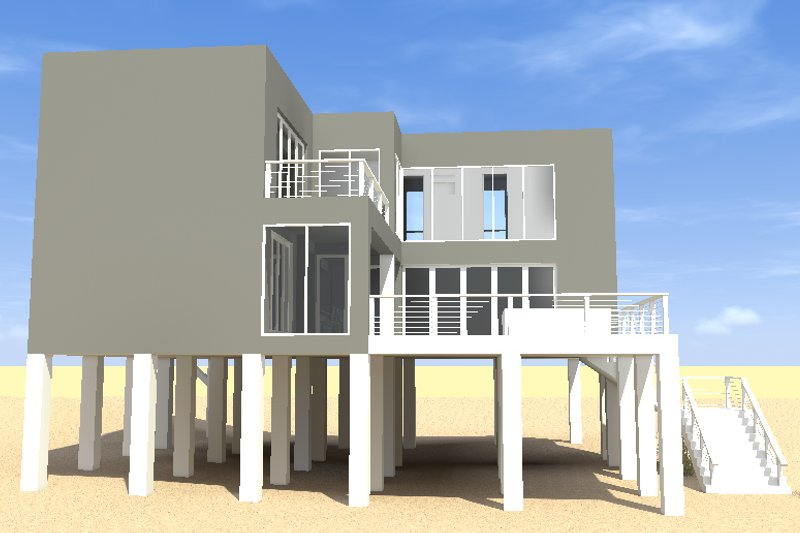 Modern Exterior - Other Elevation Plan #64-189 - Houseplans.com